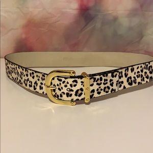 Micheal Kors animal print leather belt